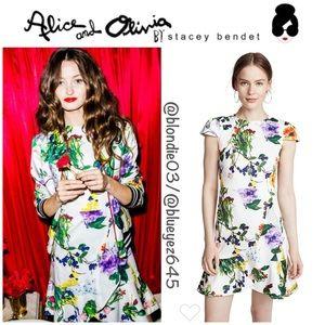 "Alice + Olivia ""Kirby"" flounced hem dress 12"